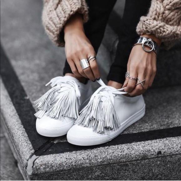 Loeffler Randall Logan Tassel Leather Sneakers I1k0vVxi